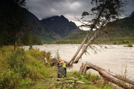 On the banks of Eagle River