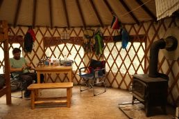 Inside Rapids Camp Yurt